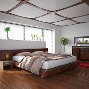 Red Wood Bedroom