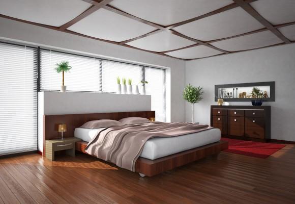Red Wood Bedroom